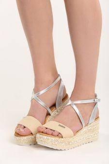 Sandale cu platforma Consuela Beige