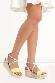 Sandale cu platforma Consuela Galbene