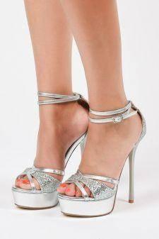 Sandale cu platforma Corfu Argintii