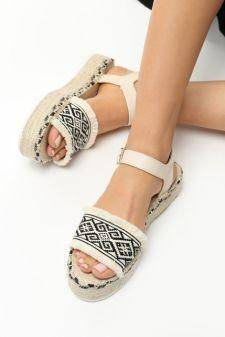 Sandale cu platforma Costela Bej
