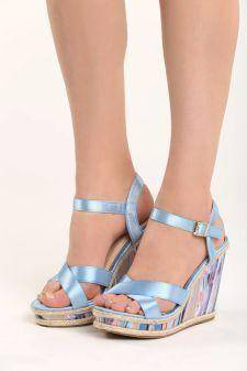 Sandale cu platforma Dima Albastre