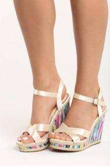 Sandale cu platforma Dima Bej
