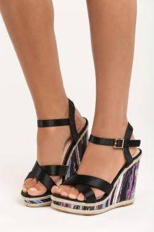 Sandale cu platforma Dima Negre