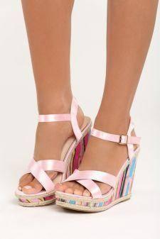 Sandale cu platforma Dima Roz