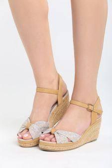 Sandale cu platforma Dormida Bej