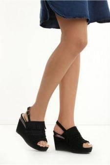 Sandale cu platforma Dorothea Negre