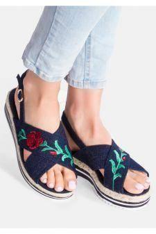 Sandale cu platforma Eliza Navy