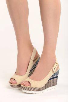 Sandale cu platforma Elodie Bej