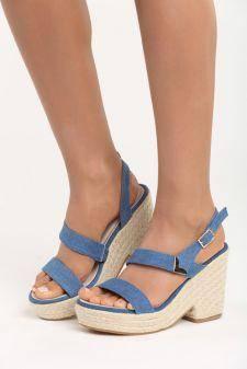 Sandale cu platforma Emilia Albastre