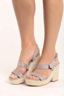 Sandale cu platforma Emilia Gri