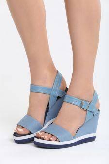 Sandale cu platforma Ermitas Albastre