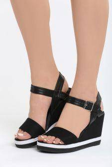 Sandale cu platforma Ermitas Negre