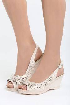 Sandale cu platforma Faint Bej