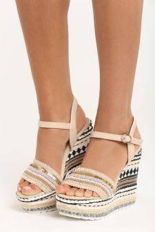 Sandale cu platforma Faith Bej