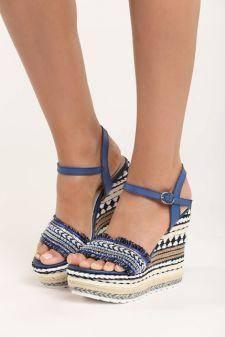 Sandale cu platforma Faith Navy