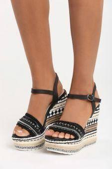 Sandale cu platforma Faith Negre