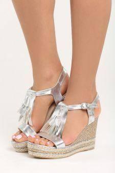 Sandale cu platforma Gabriela Argintii