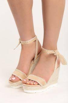 Sandale cu platforma Giovana Bej