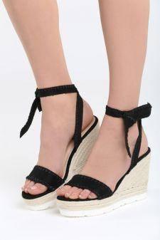 Sandale cu platforma Giovana Negre