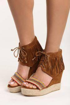 Sandale cu platforma Ines Camel