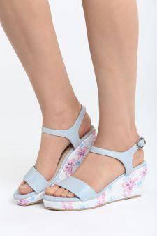 Sandale cu platforma Jaiba Blue