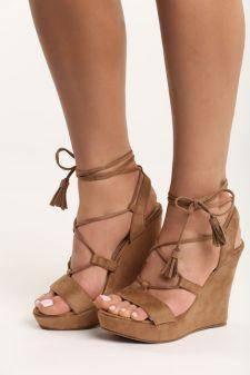 Sandale cu platforma Janette Camel
