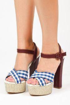 Sandale cu platforma Kozani Albastre