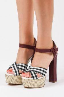 Sandale cu platforma Kozani Negre