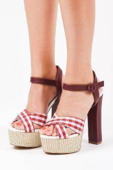 Sandale cu platforma Kozani Rosii