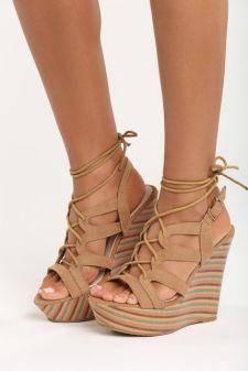 Sandale cu platforma Lotus Bej 2