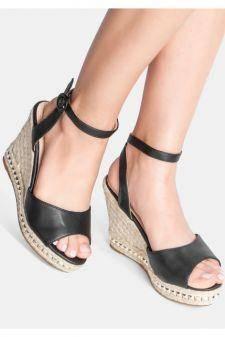 Sandale cu platforma Lulu Negre