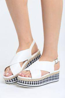 Sandale cu platforma Melado Albe