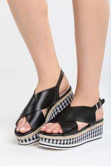 Sandale cu platforma Melado Negre