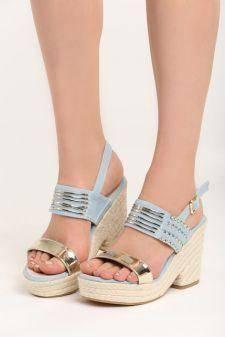 Sandale cu platforma Mik Bleu