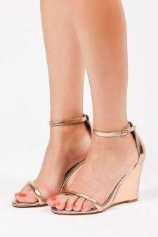 Sandale cu platforma Ostuni Bej sampanie