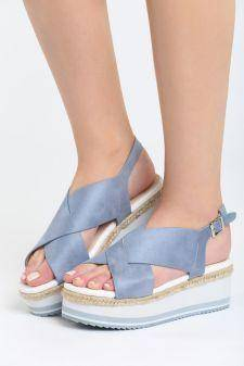 Sandale cu platforma Velez Albastre
