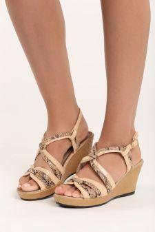 Sandale cu talpa ortopedica Caleta Bej