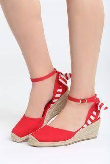 Sandale cu talpa ortopedica Quizarra Rosii