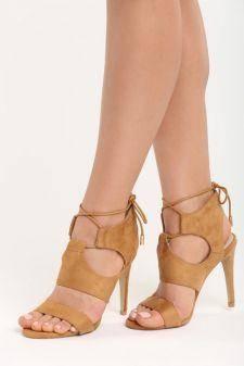 Sandale cu toc Caprice Camel