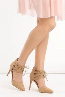Sandale cu toc Caraline Bej