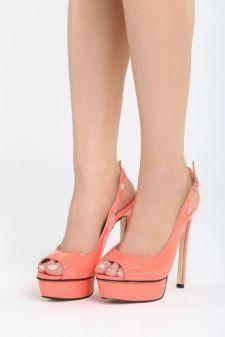 Sandale cu toc Engorda Corai