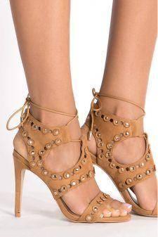 Sandale cu toc Kendall Camel