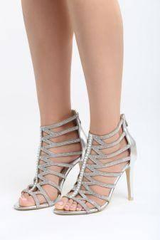 Sandale cu toc Recreo Argintii