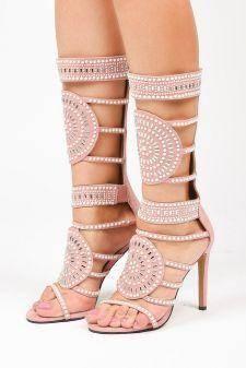 Sandale cu toc Sapri Roz