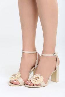 Sandale cu toc Sarsina Bej