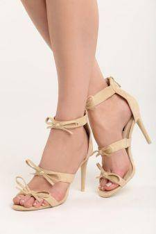 Sandale cu toc Sicily Beige