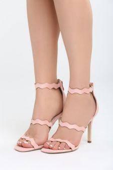 Sandale cu toc Viva Roz