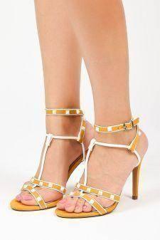 Sandale cu toc Vlora Galbene