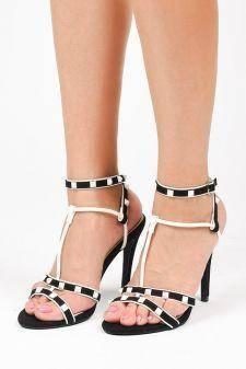 Sandale cu toc Vlora Negre