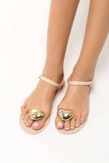 Sandale dama Abigaia Bej